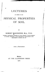 Xxviii on the injurious effects of an excess or want of for Physical and chemical properties of soil wikipedia