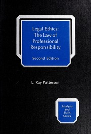 an essay on professional ethics sharswood george  borrow legal ethics the law of professional responsibility