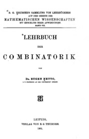 Lehrbuch der Combinatorik