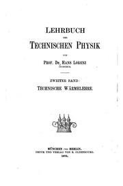 Vol 2: Lehrbuch der technischen Physik