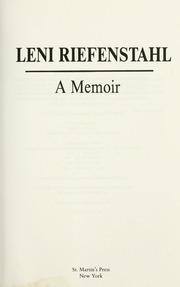 Leni riefenstahl memoiren pdf epub
