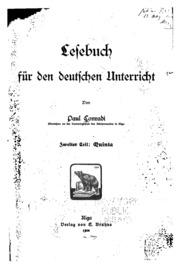 Vol 2: Lesebuch für den deutschen Unterricht