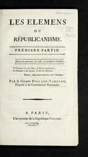 Les élémens du républicanisme : première partie