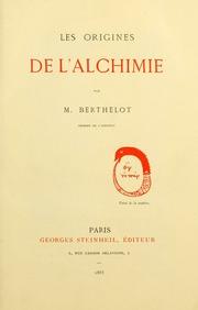 Les origines de l'alchemie
