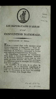 Les républicains d'Arras a la Convention nationale.