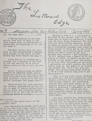 The Lettered Edge: Newsletter of the Bust Dollar Club: Spring 1979