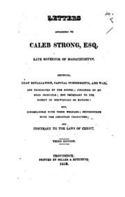 letter address format letters addressed to caleb strong showing that 1766
