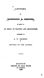Essay on slavery and abolitionism beecher