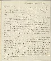 Letter to] My dear Henry [manuscript