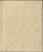 Letter to] My very dear, gentle and affectionate Wife [manuscript