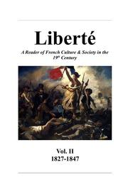 Liberté, Vol. II: 1827-1847