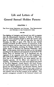 Life and Letters of Samuel Holden Parsons: Major-general in the Continental ...
