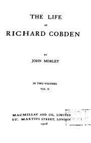 the life of richard cobden