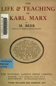 an introduction to the life and beliefs of karl marx
