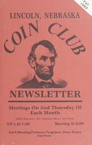 Lincoln Coin Club Newsletter: Fall 1992