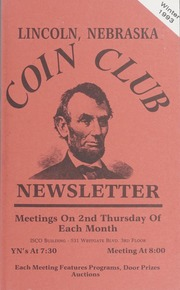 Lincoln Coin Club Newsletter: Winter 1993