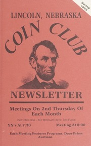 Lincoln Coin Club Newsletter: Spring 1993