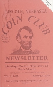 Lincoln Coin Club Newsletter: Summer 1993