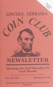 Lincoln Coin Club Newsletter: Winter 1994