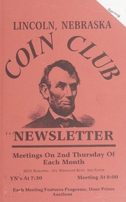 Lincoln Coin Club Newsletter: Spring 1994
