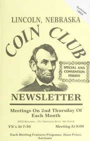 Lincoln Coin Club Newsletter: Summer 1994