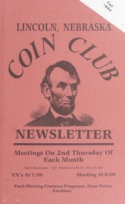 Lincoln Coin Club Newsletter: Fall 1994