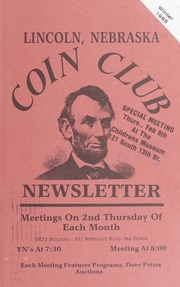 Lincoln Coin Club Newsletter: Winter 1995