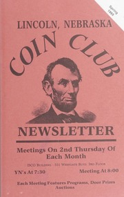 Lincoln Coin Club Newsletter: Spring 1995