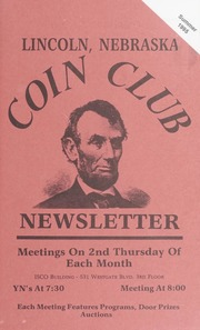 Lincoln Coin Club Newsletter: Summer 1995