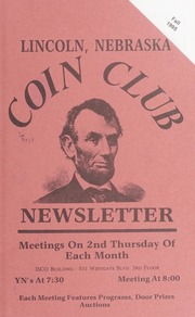 Lincoln Coin Club Newsletter: Fall 1995