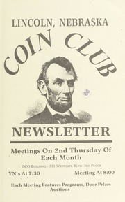 Lincoln Coin Club Newsletter: Spring 1996