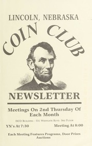 Lincoln Coin Club Newsletter: Fall 1996