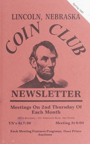 Lincoln Coin Club Newsletter: Spring 1997