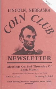Lincoln Coin Club Newsletter: August 1997