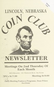 Lincoln Coin Club Newsletter: Winter 1998