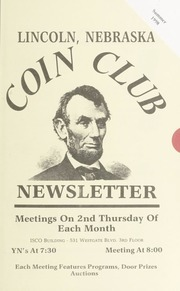 Lincoln Coin Club Newsletter: Summer 1998
