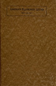 lincoln letter to mother lincoln s ellsworth letter and also the last letter from 10151 | lincolnsellswor3138linc