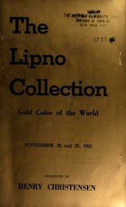 The Lipno collection : gold coins of the world ... [11/28-29/1961]