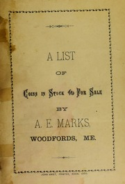 Picture of A. E. Marks [Fixed Price List]