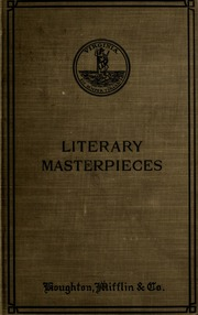 what is a literary masterpieces Five seems an oddly specific number if you have in mind some particular author's idea of things literary masterpieces have in common, then perhaps you.