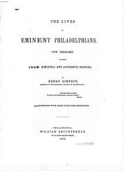 Lives Of Eminent Philadelphians
