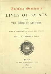 Lives of saints, from the Book of Lismore [microform ...