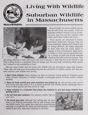 Problem animal control handbook massachusetts division for Mass fish and wildlife