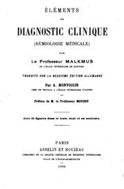 Éléments de diagnostic clinique: (sémiologie médicale)