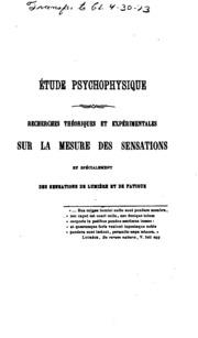 Éléments de psychophysique générale and spéciale