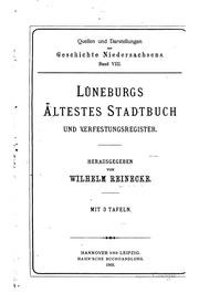 Lüneburgs ältestes stadtbuch und verfestungsregister