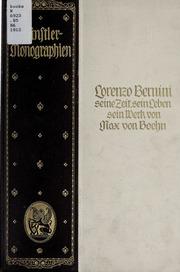 Lorenzo Bernini, seine zeit, sein leben, sein werk