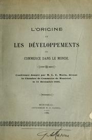 L 39 origine et les d veloppements du commerce dans le monde for Chambre de commerce de montreal