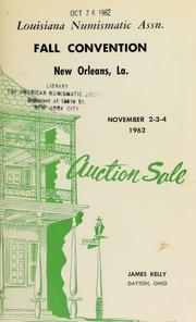 Louisiana numismatic association auction sale. [11/02-04/1962]