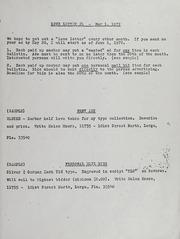 Love Letter: Newsletter of the Love Token Society - 1972
